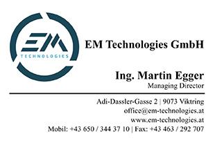 Ing. Martin Egger